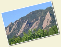 A snapshot of the Boulder, Flat Irons and home to our Boulder Maid Service office